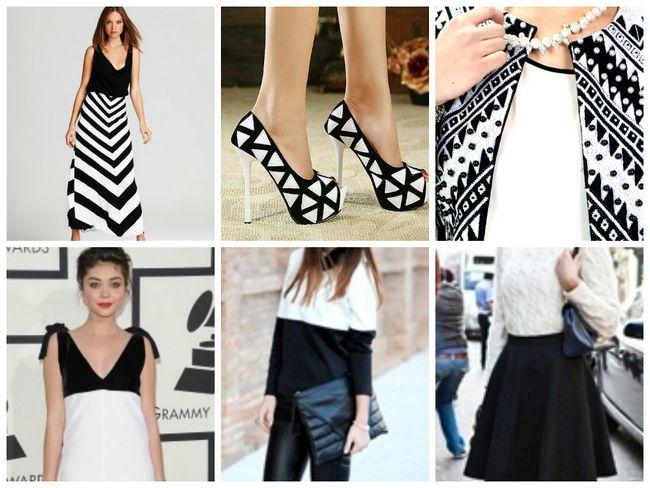 Cómo el estilo combinado blanco y negro