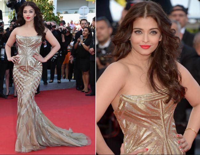 estilo indio de la diva en Cannes