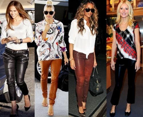 pantalones de cuero para las mujeres