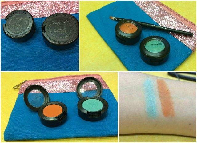 Mac estera de naranja sombra de ojos y revisar Aquadisiac lustre y Swatch