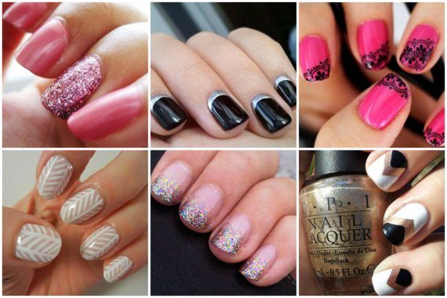 metal y tonos brillantes de arte de uñas