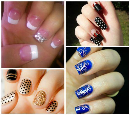La mayoría de los diseños del arte de las uñas comunes
