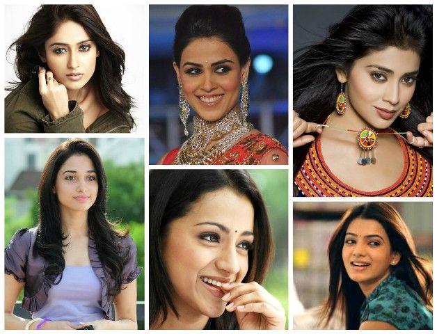 La mayor parte de la actriz con estilo sur de la India