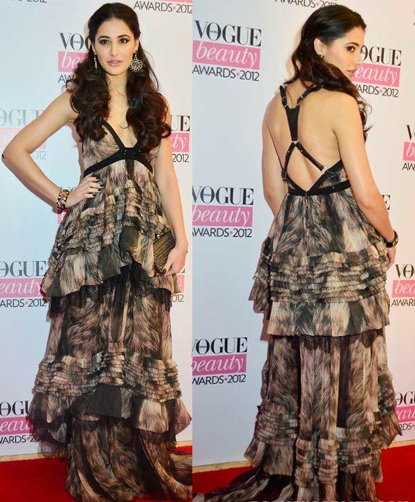 Nargis Fakhri en el vestido maxi del diseñador