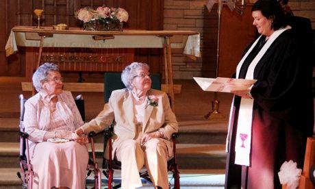 pareja del mismo sexo Boyack Vivian y Alice Dubé llevaron después de 72 años de estar juntos