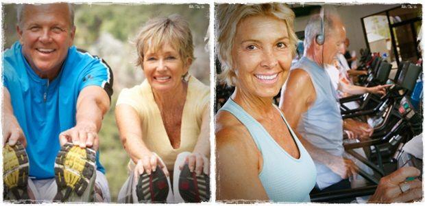 Muslo ejercicios de fortalecimiento para las personas mayores y los jinetes