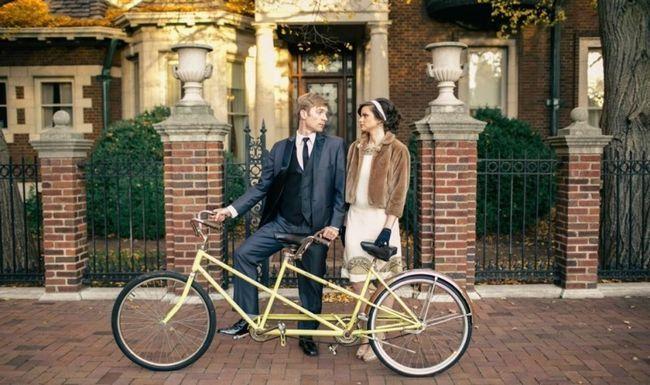 Este tema de foto de la boda Wes Anderson tiro es muy lindo!