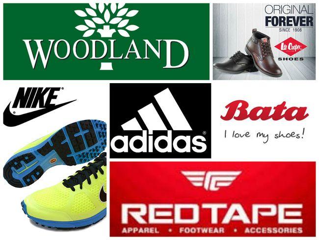 Más altas marcas de calzado en la India