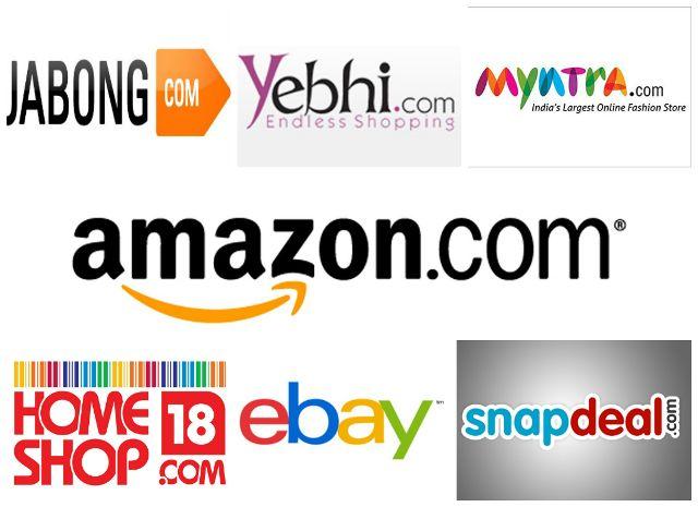 Topmost sitios de compras en línea en la India