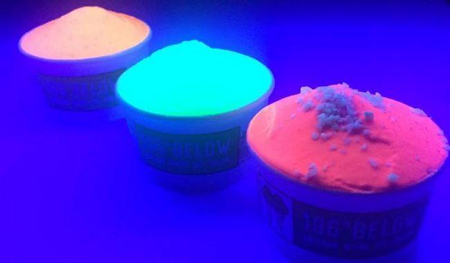 ¿Quieres probar un poco de brillo en la oscuridad helado?
