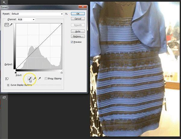 Es vestido de blanco y dorado o azul y negro?