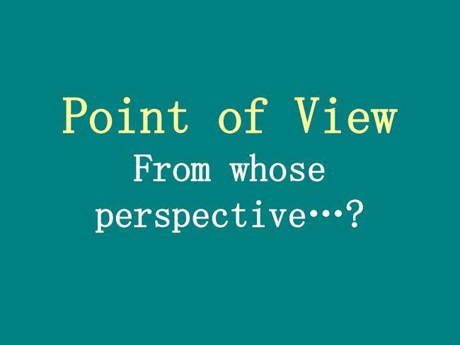 Tercer punto de vista de la persona