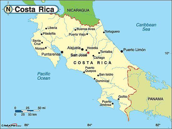 El tiempo en Costa Rica en agosto