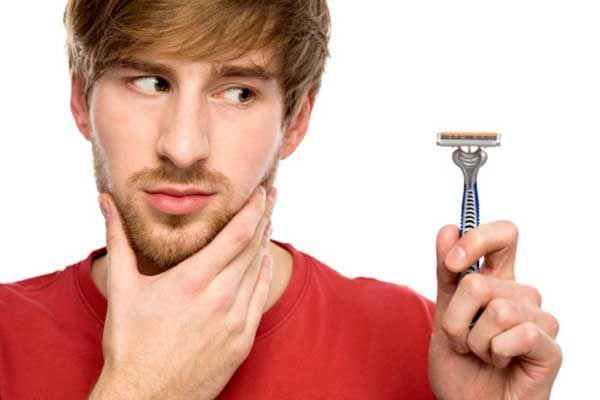 Cuando es hora de afeitarse la barba es