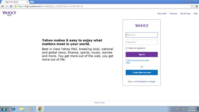 Yahoo Mail cuenta abierta de nuevo